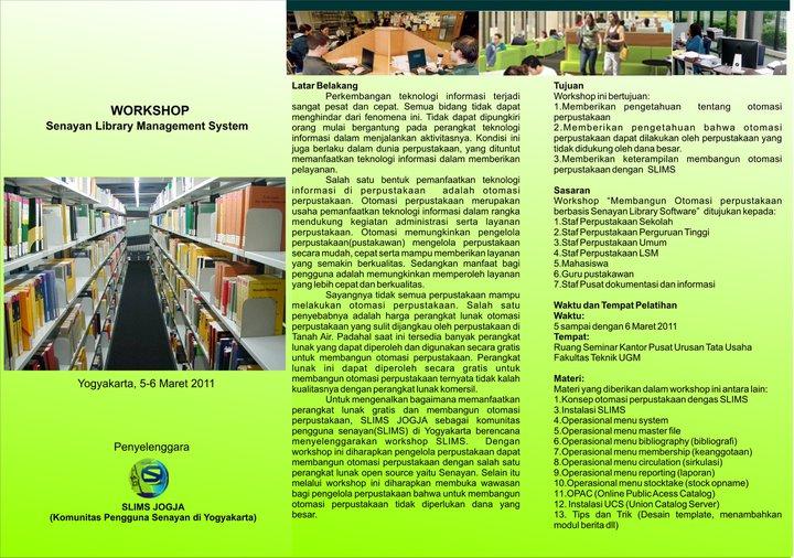Undangan mengikuti WORKSHOP Senayan Library Manajemen System