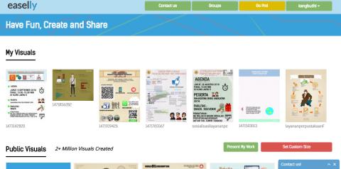 Buat publikasi perpustakaan dengan infografis for Draw online share